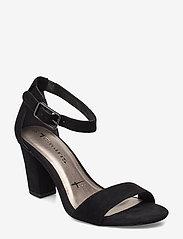 Tamaris - Woms Sandals - høyhælte sandaler - black suede - 0