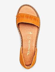 Tamaris - Woms Sandals - flate sandaler - cognac - 3