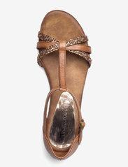 Tamaris - Woms Sandals - zempapēžu sandales - nut comb - 3