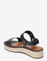 Tamaris - Woms Sandals - platta espadriller - black - 2