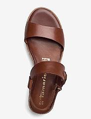 Tamaris - Woms Sandals - platta espadriller - brandy - 3