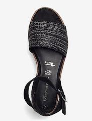 Tamaris - Woms Sandals - platta espadriller - black - 3