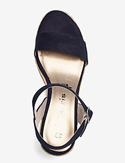 Tamaris - Woms Sandals - espadrilles mit absatz - navy - 3