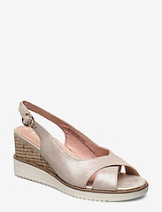 Tamaris - Woms Sandals - espadrilles met sleehak - champ. pearl - 0