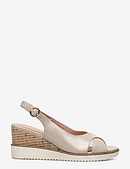 Tamaris - Woms Sandals - espadrilles met sleehak - champ. pearl - 1