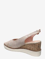 Tamaris - Woms Sandals - espadrilles met sleehak - champ. pearl - 2