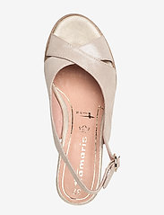 Tamaris - Woms Sandals - espadrilles met sleehak - champ. pearl - 3