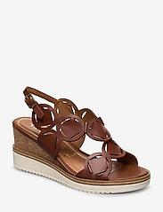 Tamaris - Woms Sandals - sandales à talons - brandy - 0