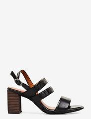 Tamaris - Woms Sandals - sandalen mit absatz - blk lea/snake - 1