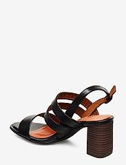 Tamaris - Woms Sandals - sandalen mit absatz - blk lea/snake - 2