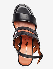 Tamaris - Woms Sandals - sandalen mit absatz - blk lea/snake - 3
