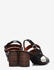 Tamaris - Woms Sandals - sandalen mit absatz - blk lea/snake - 4