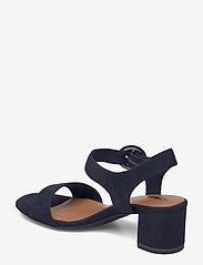 Tamaris - Woms Sandals - augstpapēžu sandales - navy suede - 2