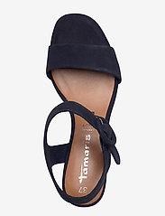 Tamaris - Woms Sandals - augstpapēžu sandales - navy suede - 3