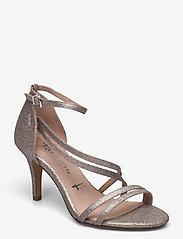 Tamaris - Woms Sandals - augstpapēžu sandales - space glam - 0