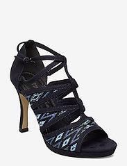 Tamaris - Woms Sandals - heeled sandals - navy raffia - 0