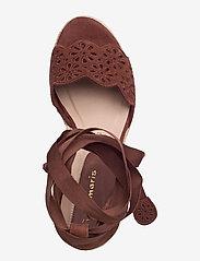 Tamaris - Woms Slip-on - espadrilles mit absatz - chocolate - 3