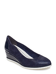Woms Court Shoe - NAVY STRUCTURE