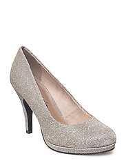 Woms Court Shoe - PLATINUM GLAM
