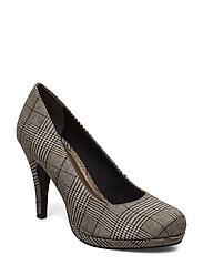 Woms Court Shoe - TARTAN