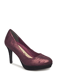 Woms Court Shoe - BORDEAUX MET.