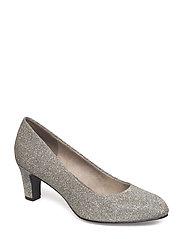 Woms Court Shoe - PLATINUM GLAM