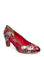 Woms Court Shoe - CHILI FLOWER