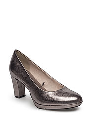 Woms Court Shoe - PEWTER