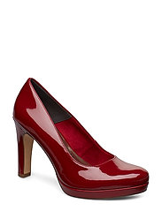 Woms Court Shoe - SCARLET PATENT