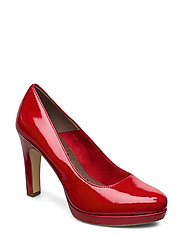 Woms Court Shoe - CHILI PATENT