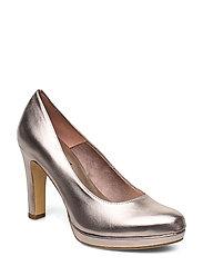 Woms Court Shoe - ROSE METALLIC