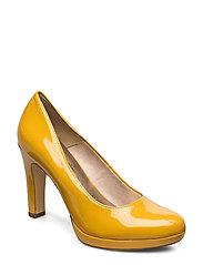 Woms Court Shoe - SAFFRON PATENT