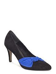 Woms Court Shoe - BLACK/ROYAL