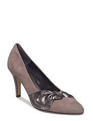 Woms Court Shoe - STONE/PEWT.MET