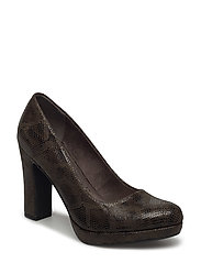 Woms Court Shoe - OLIVE SNAKE