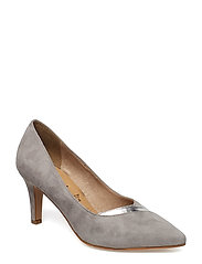 Woms Court Shoe - GREY/SILVER M.