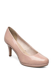Woms Court Shoe - OLD ROSE PAT.
