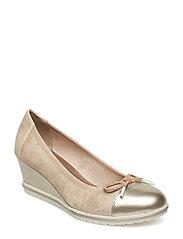 Woms Court Shoe - LT GOLD COMB