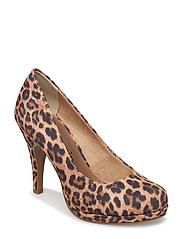 Woms Court Shoe - LEOPARD