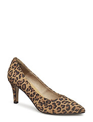 Woms Court Shoe - LEOPARD
