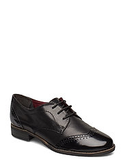 Woms Lace-up - BLK LEA/BRUSH