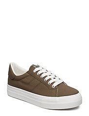 Woms Lace-up - OLIVE