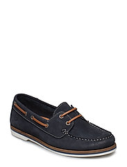 Woms Lace-up - NAVY NUBUC