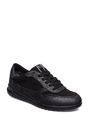 Woms Lace-Up Låga Sneakers Svart TAMARIS