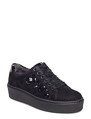 Woms Lace-up - BLACK/BLACK