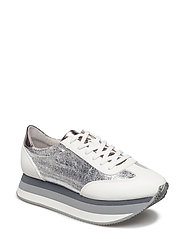Woms Lace-up - WHITE/SILVER