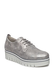 Woms Lace-up - SILVER METALL.
