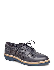 Woms Lace-up - NAVY STRUCTURE