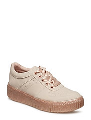 Woms Lace-up - ROSE METALLIC