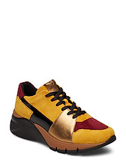 Woms Lace-up - MUSTARD COMB